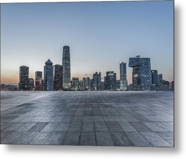 Beijing City Square Metal Print by DuKai photographer