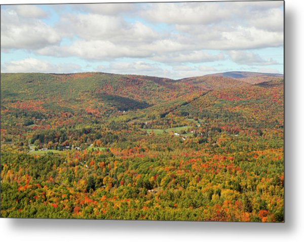 Looking Out Over The Autumn Landscape Metal Print by Susan Pease