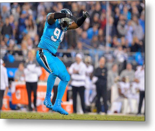 New Orleans Saints V Carolina Panthers Metal Print by Grant Halverson