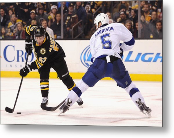 Tampa Bay Lightning V Boston Bruins Metal Print by Maddie Meyer