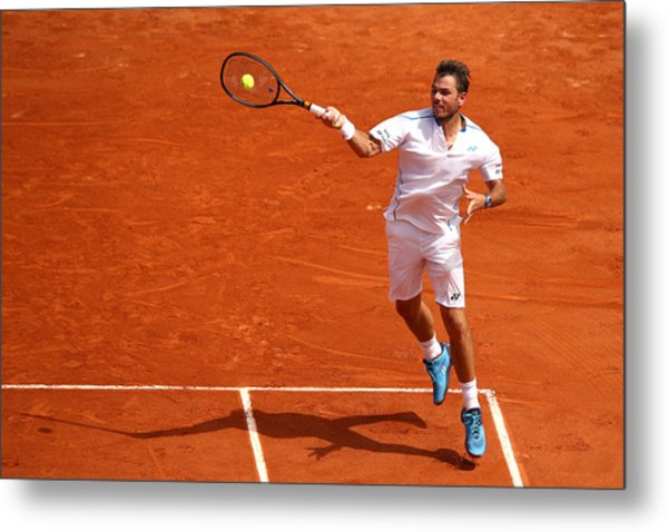 2018 French Open - Day Two Metal Print by Cameron Spencer