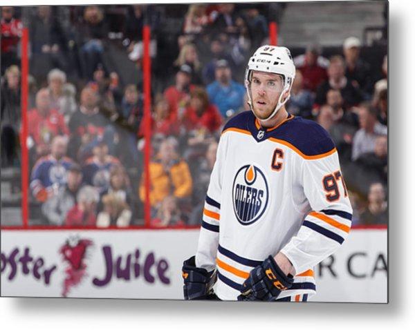Edmonton Oilers V Ottawa Senators Metal Print by Jana Chytilova/Freestyle Photo