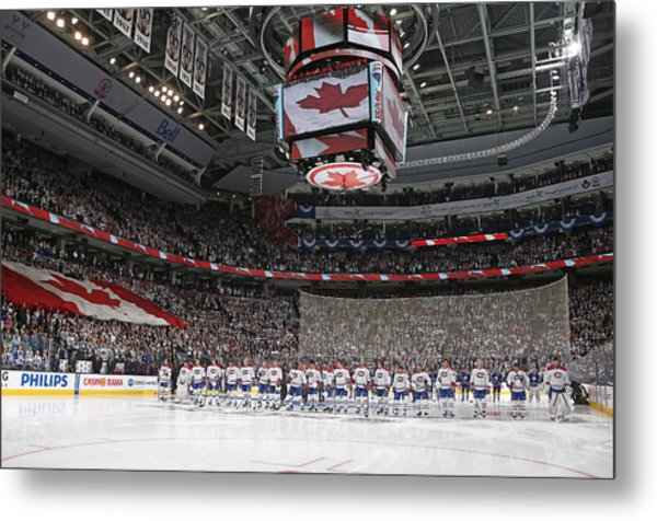 Montreal Canadiens V Toronto Maple Leafs Metal Print by Claus Andersen