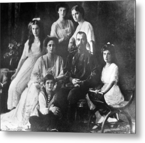 Family Of Tsar Nicholas II Of Russia Metal Print by Laski Diffusion