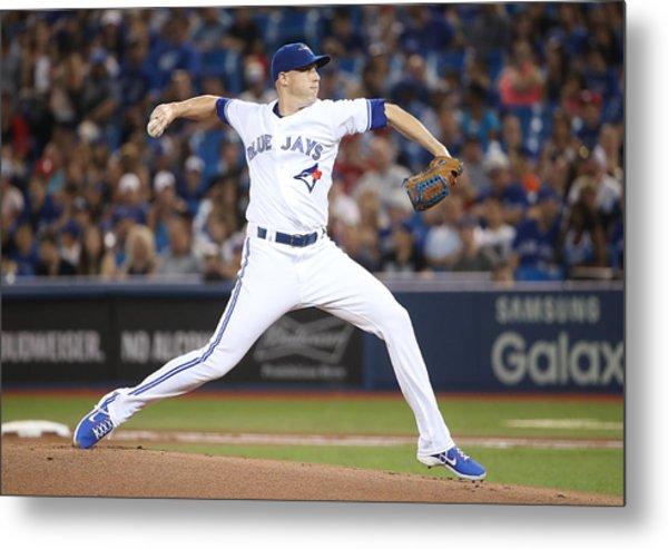 Houston Astros V Toronto Blue Jays Metal Print by Tom Szczerbowski