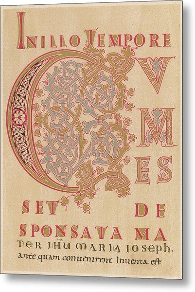 A Fragment Of Sintram's Evangelium Metal Print