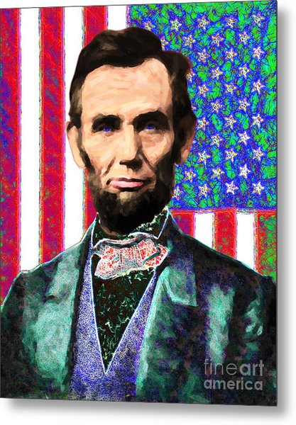 Abraham Lincoln 20130115 Metal Print by Wingsdomain Art and Photography