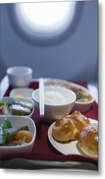 Airline Meal, Business Class Metal Print by Shui Ta Shan