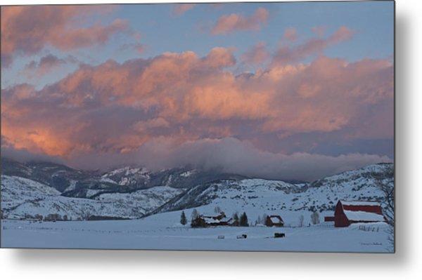 Alpine Glow Over Elk Mountain Meadows Metal Print