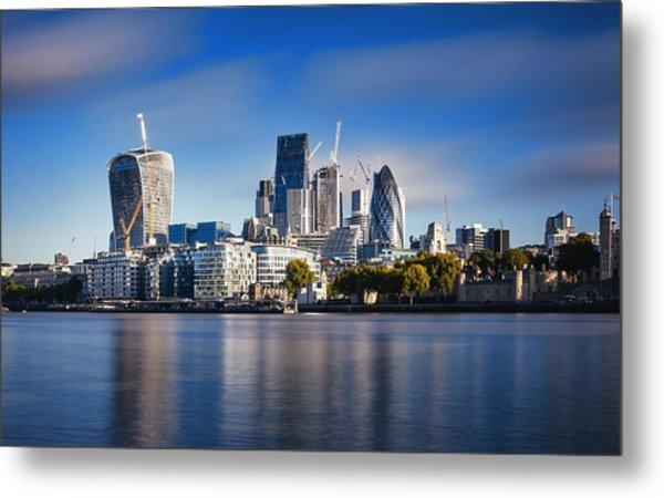 Amazing London Skyline With Tower Bridge During Sunrise Metal Print by Easyturn