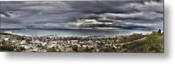 Approaching Storm Hdr Panorama  Metal Print by Joe  Palermo