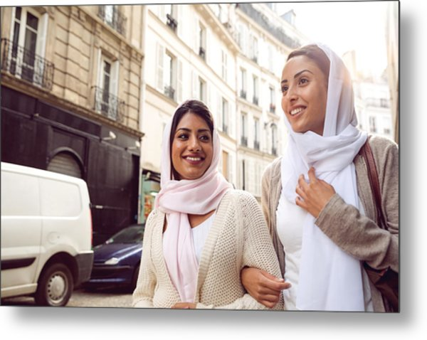 Arab Youth In Paris - Middle Eastern Millennials Metal Print by LeoPatrizi