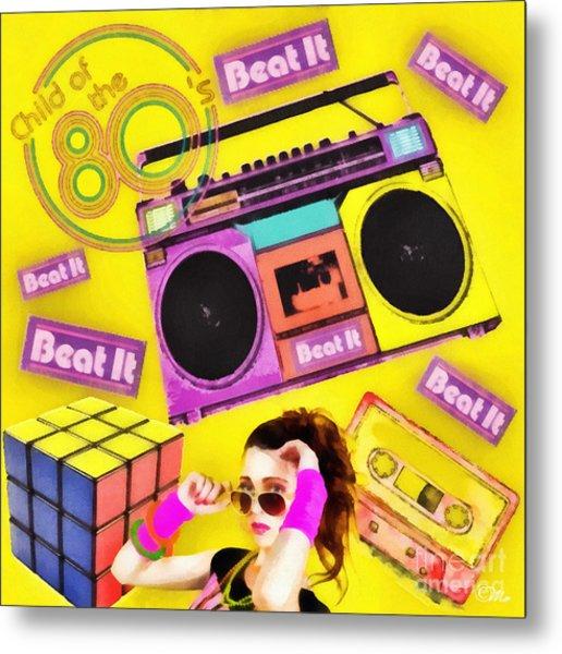 Beat It Metal Print