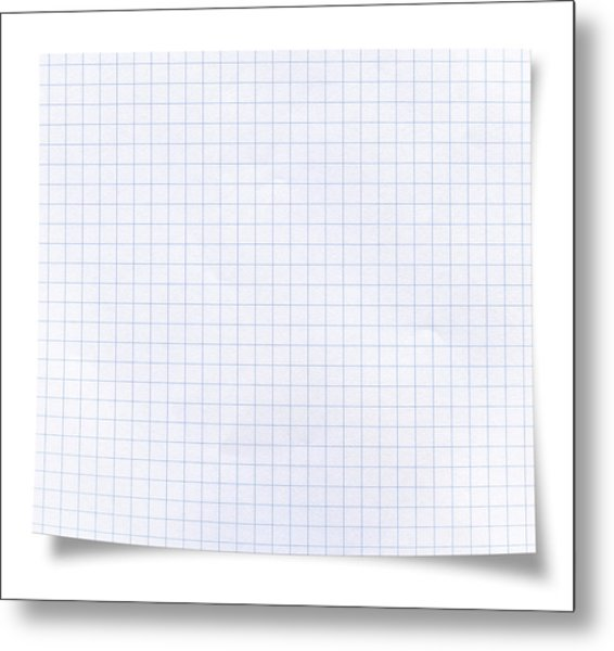 Blank Square Rules Lined Paper Metal Print by Tolga TEZCAN