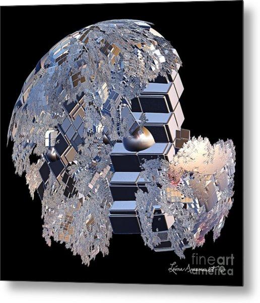 Blockhead Metal Print