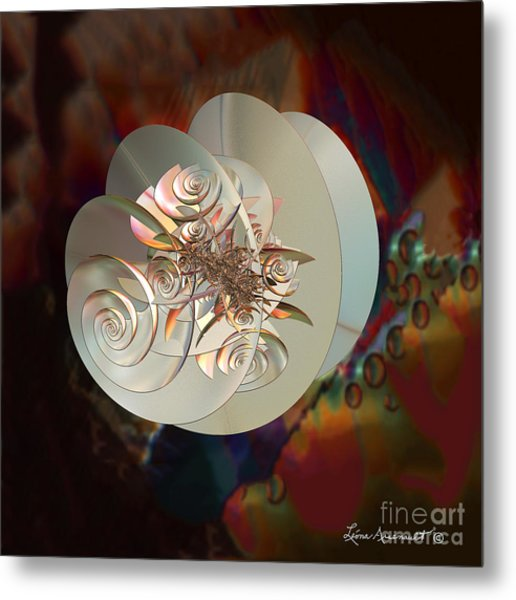Blooming Spiral Metal Print