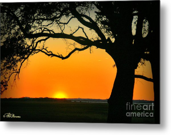 Cape Fear Sunset 2 Metal Print
