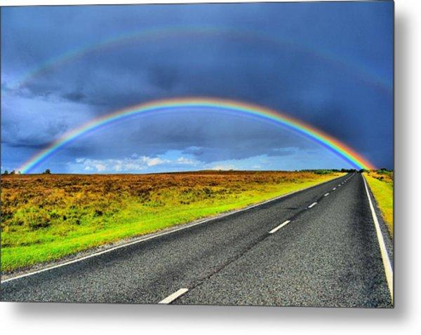 Catch The Rainbow Metal Print by Dave Woodbridge