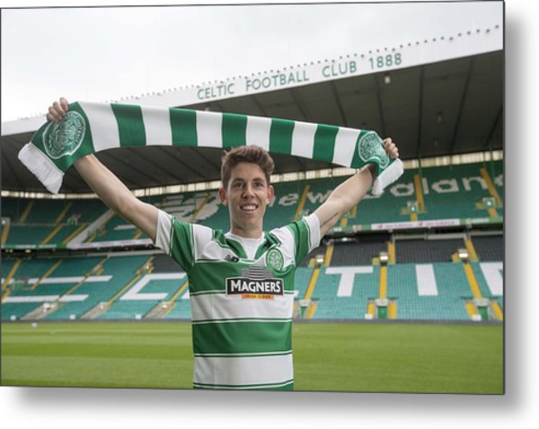 Celtic Unveil New 4-year Signing Ryan Christie Metal Print by Jeff Holmes