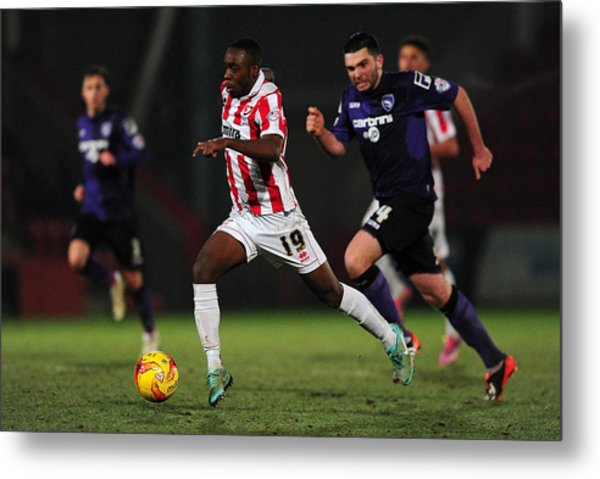 Cheltenham Town V Morecambe Fc - Sky Bet League Two Metal Print by Dan Mullan