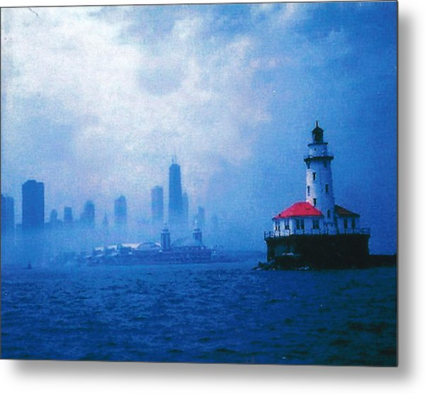 Chicago Fog Metal Print