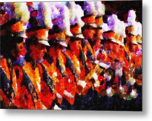 Clemson Tiger Band - Afremov-style Metal Print