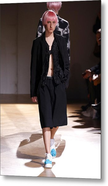 Comme Des Garcons Homme Plus : Runway - Paris Fashion Week - Menswear F/w 2017-2018 Metal Print by Estrop