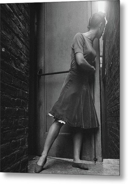 Dancer Anita Alvarez Looking Out Of A Backstage Metal Print