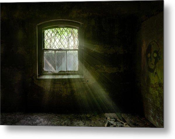 Darkness Revealed - Basement Room Of An Abandoned Asylum Metal Print