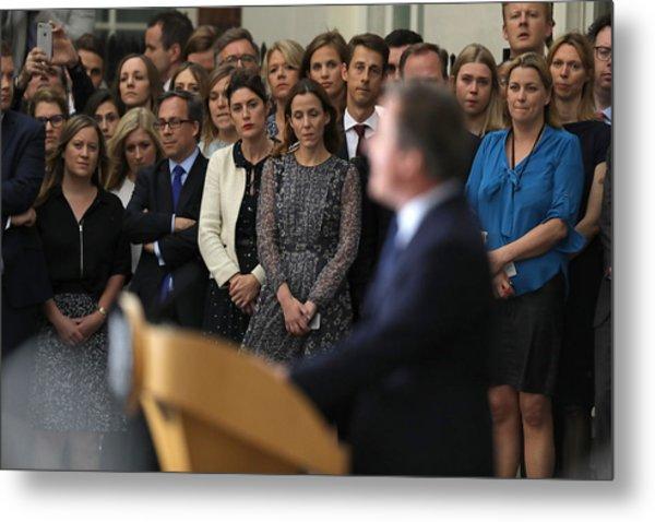 David Cameron's Last Day As The Uk's Prime Minister Metal Print by Dan Kitwood