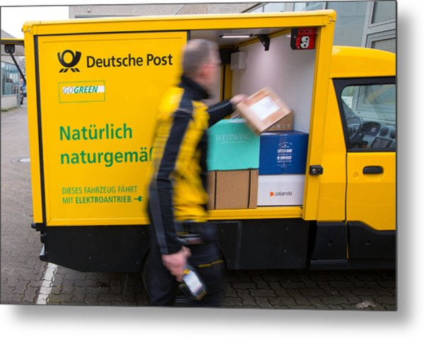 Deutsche Post Ag Unveils Electric Streetscooter Metal Print by Bloomberg