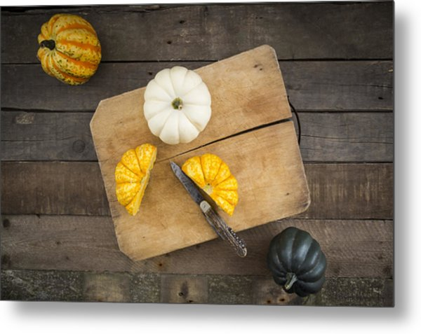 Different Sorts Of Mini Squashes Metal Print by Westend61