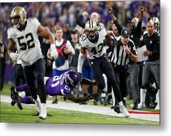 Divisional Round - New Orleans Saints V Minnesota Vikings Metal Print by Jamie Squire