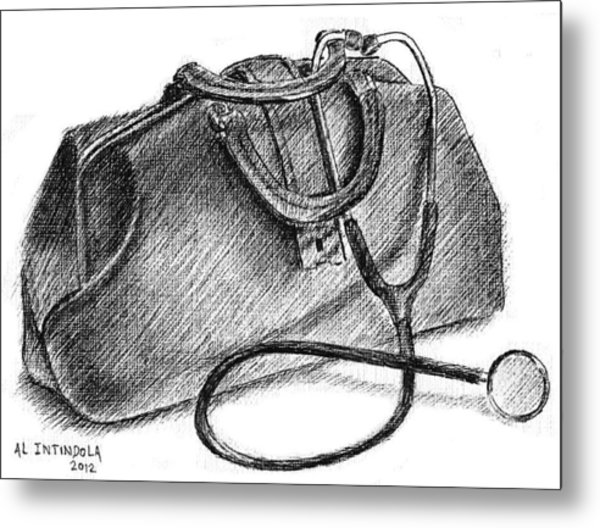 Doctors Bag Metal Print