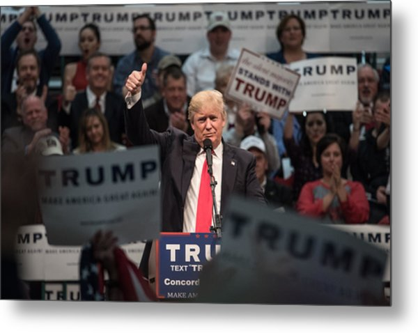 Donald Trump Holds Campaign Rally In North Carolina Metal Print by Sean Rayford
