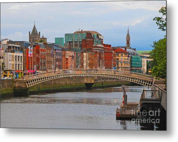 Dublin On The River Liffey Metal Print