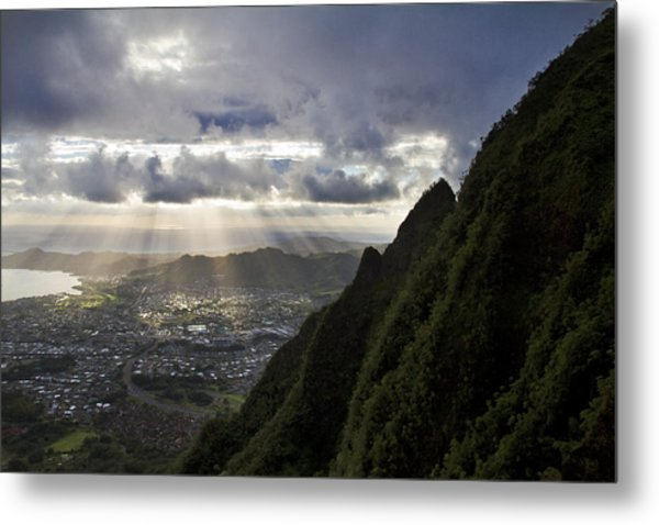 Early Morning Above Kane'ohe Metal Print by Melinda Podor