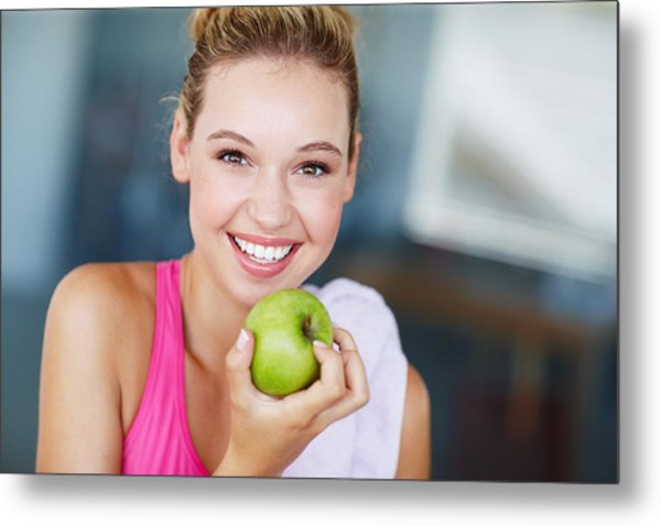 Eating The Right Way For Great Health Metal Print by GlobalStock