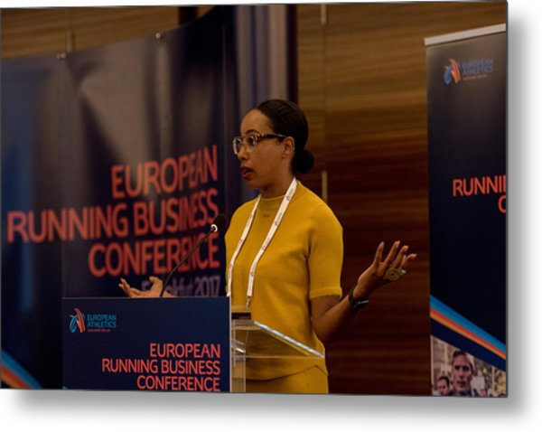European Running Business Conference Metal Print by Ulrich Roth