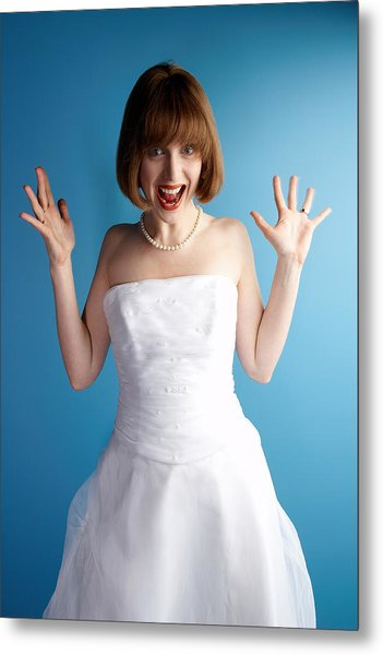 Excited Bride Metal Print by Jupiterimages