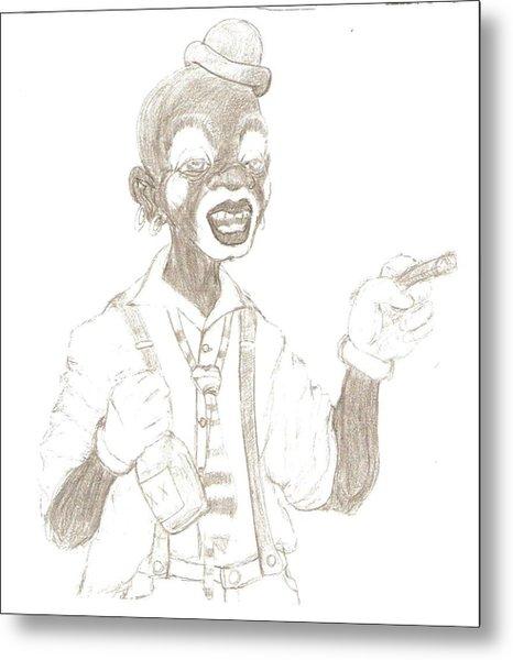 Face The Clown Metal Print