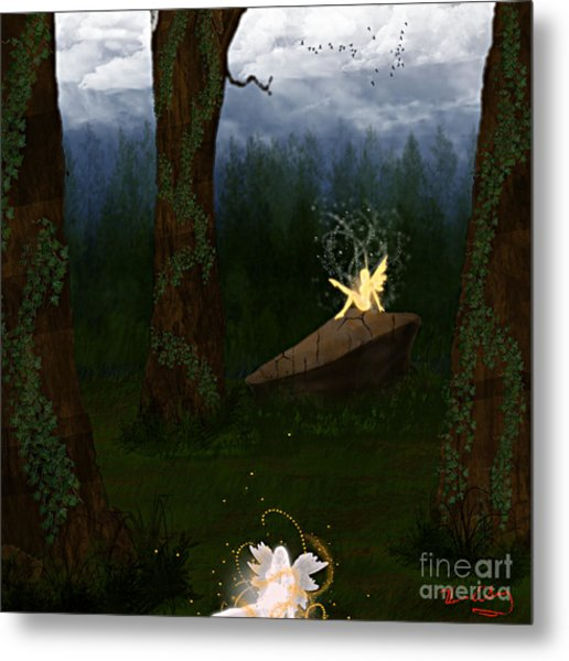 Fey Forest Metal Print