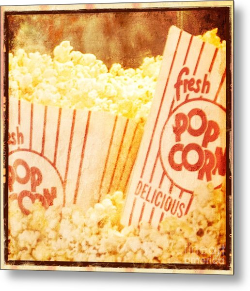 Fresh Hot Buttered Popcorn Metal Print