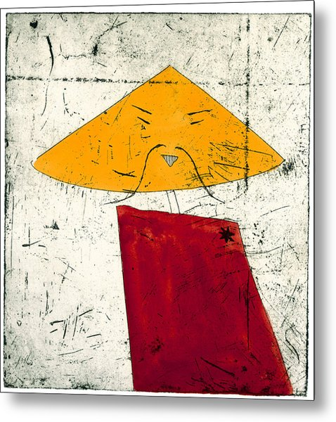 Geometric Figure With Face Metal Print by Tim Southall