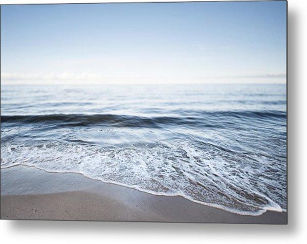 Germany, Mecklenburg-western Pomerania, Usedom, Waves On The Beach Metal Print by Westend61
