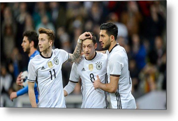 Germany V Italy - International Friendly Metal Print by Boris Streubel