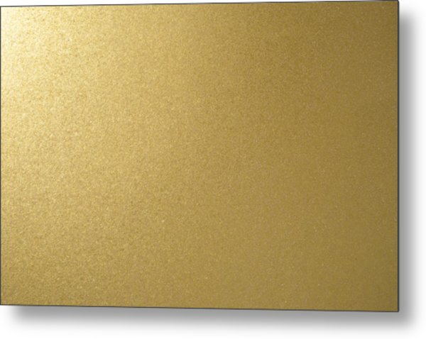 Gold Texture Background Metal Print by Katsumi Murouchi