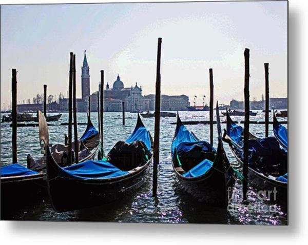 Gondolas Of Venice Metal Print