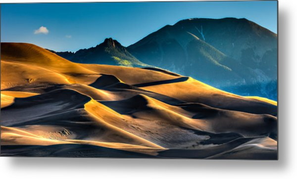 Great Sand Dunes At Dawn Metal Print