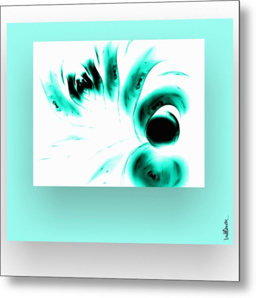 Metal Print featuring the digital art Green Reflection by Mihaela Stancu